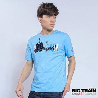 BIG TRAIN JPN神轎祭典圓領T-男-淺藍