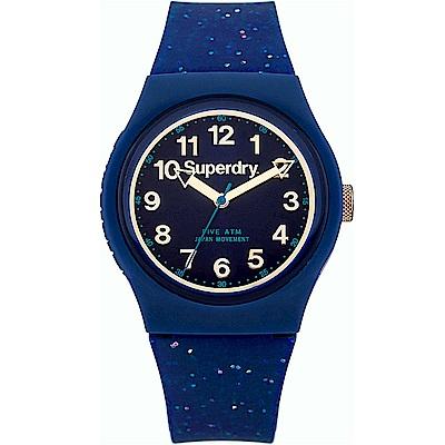 Superdry極度乾燥Urban星空閃耀時尚手錶-晶亮藍/37mm