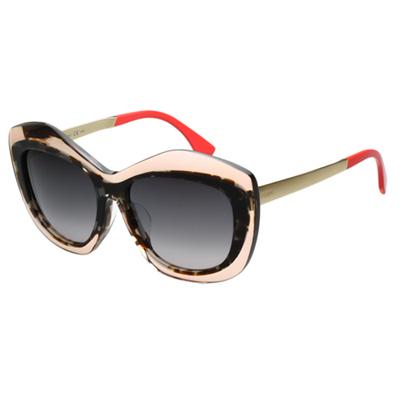 FENDI 時尚太陽眼鏡(粉+豹紋色)