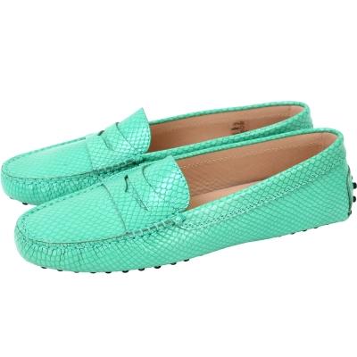 TOD'S Gommino 紋理印花豆豆休閒鞋(女鞋/薄荷綠)
