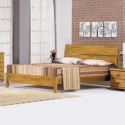 AS-瓦妮香檜5尺雙人床架-150x202x102