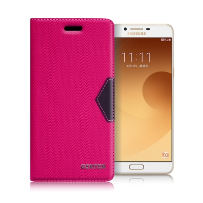 GENTEN Samsung Galaxy C9 Pro 簡約守護磁力皮套