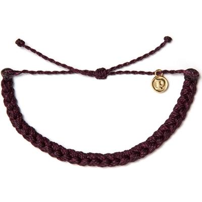 Pura-Vida-Braided-繽紛粗線編織-幸運手鍊-手環-酒紅色