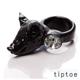 tiptoe by e.m. 逼真小豬頭 壓克力水晶戒指(Black) product thumbnail 1