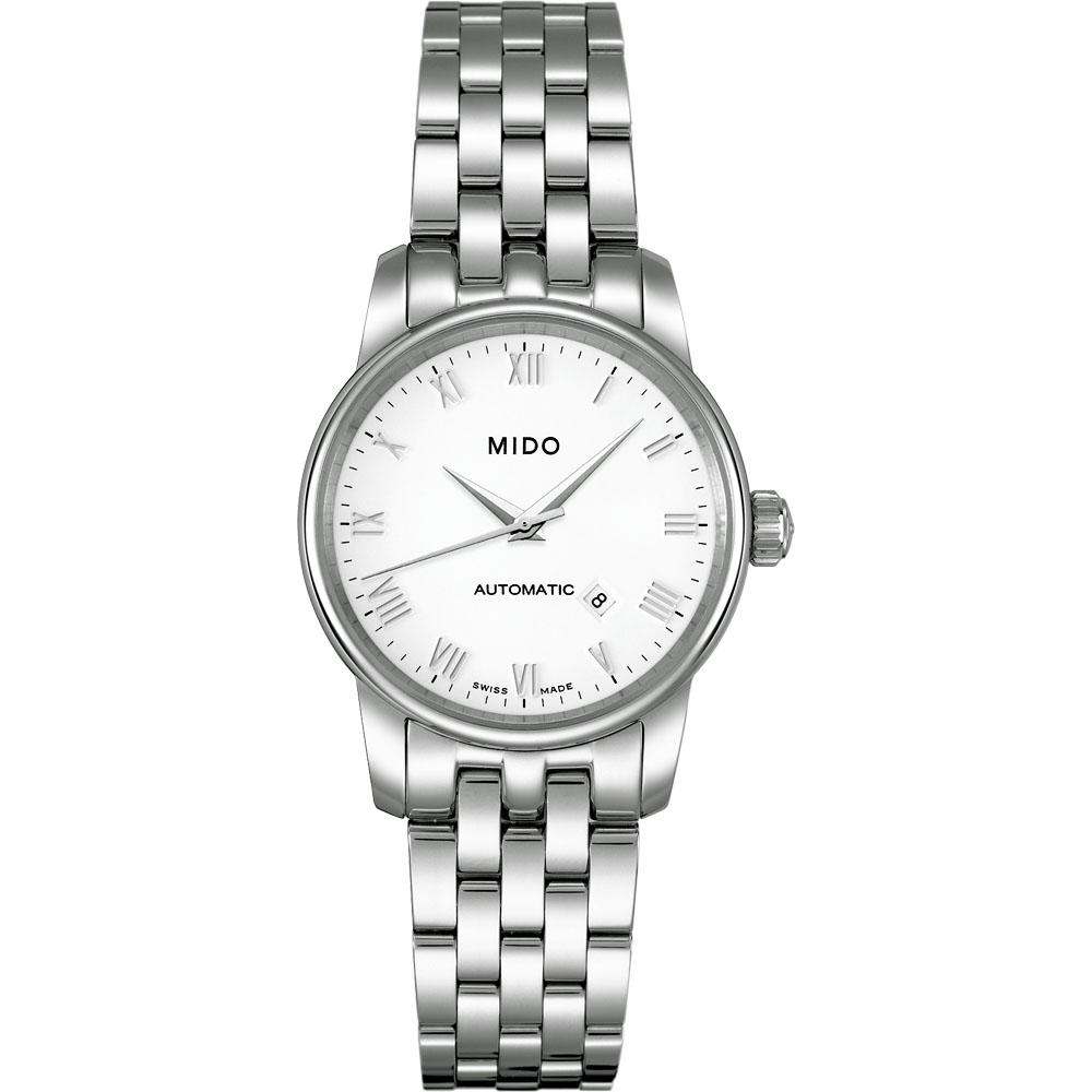 MIDO Baroncelli 雅典女神機械鋼帶腕錶(銀)-29mm