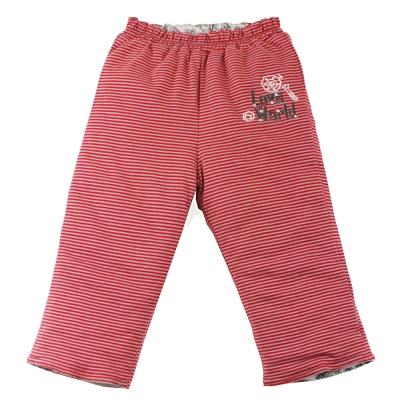 愛的世界 純棉機器人舖棉兩面穿長褲-紅/6M~3歲