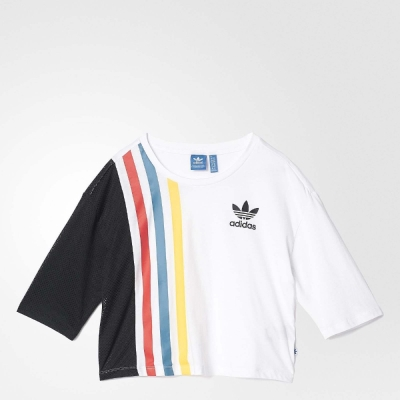 adidas T恤 Colorblock Fashion 女 黑 白