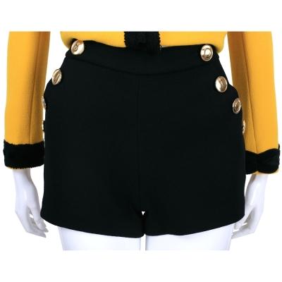 BOUTIQUE MOSCHINO 黑色字母釦飾羊毛短褲
