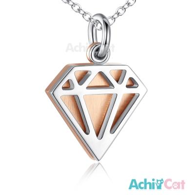 AchiCat 珠寶白鋼項鍊 純粹 鑽石