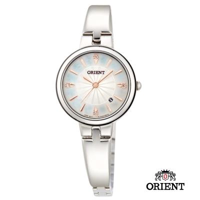 ORIENT 東方錶 DRESS系列 簡約優雅女錶-銀色/26mm