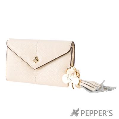 PEPPER-S-天馬包-牛皮桃樂絲鑰匙包-杏仁白