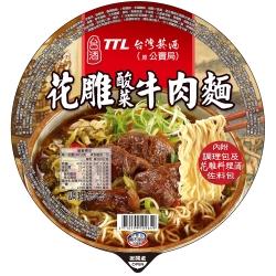 台酒TTL 花雕酸菜牛肉碗麵(200gx12入)