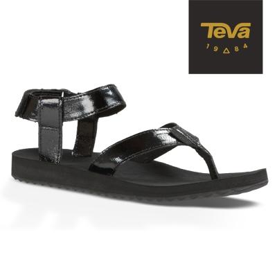 TEVA 美國-女 Original Sandal 真皮涼鞋 (黑)
