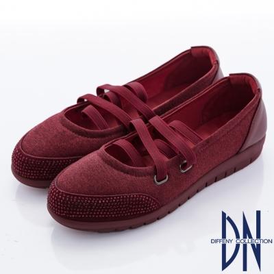 DN 優雅柔軟 鑽面妝點芭蕾舞包鞋-紅