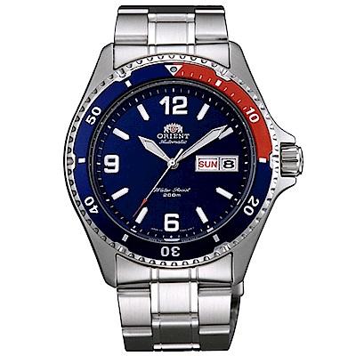 ORIENT 強悍風格自動上鍊機械運動腕錶(FAA02009D9)-藍/41.5mm