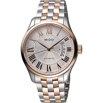 MIDO Belluna II Gent 羅馬機械腕錶-銀x雙色版/40mm