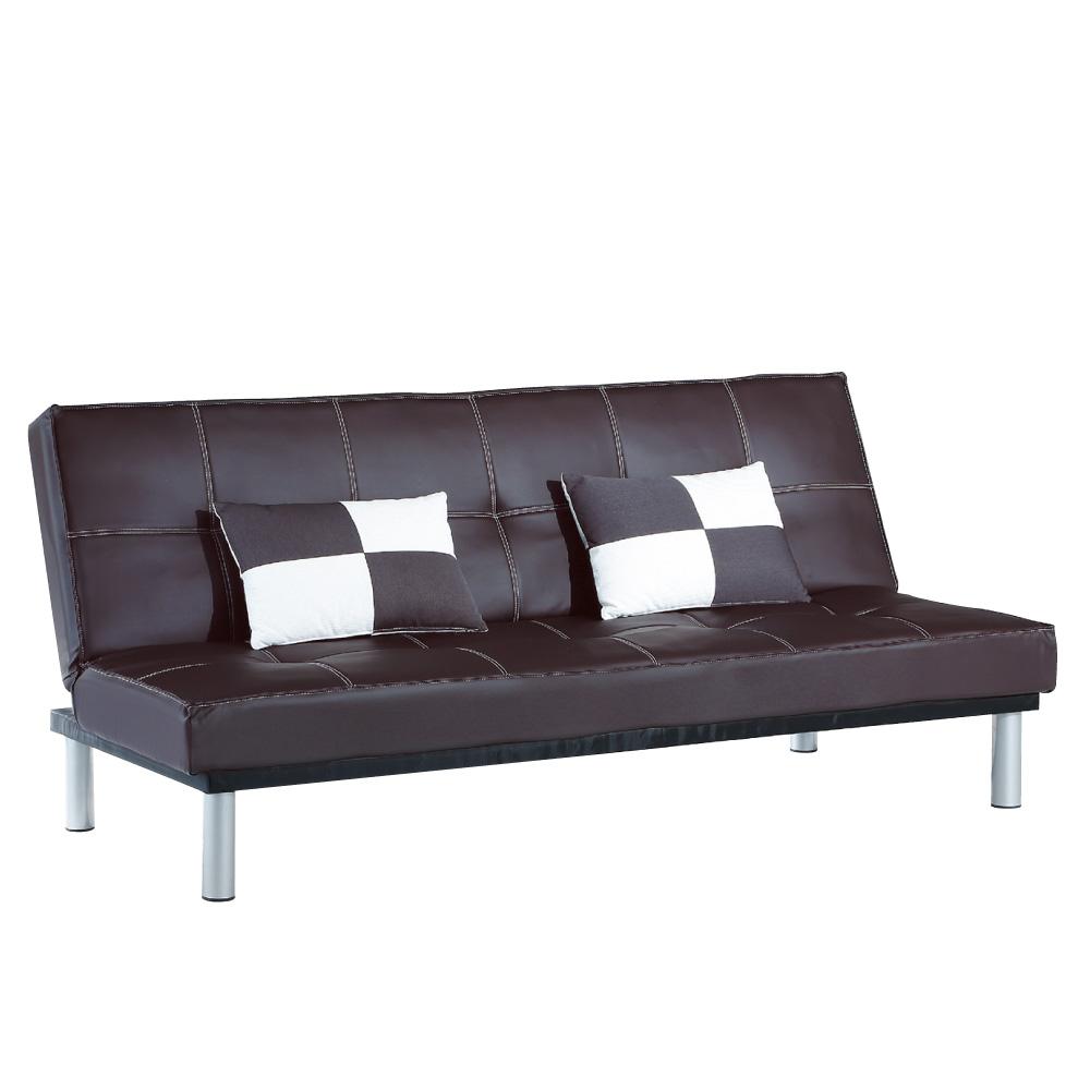 品家居 玫布皮革展開式沙發床(二色可選)-190x58x87cm-免組