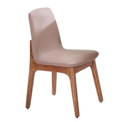 AT HOME-葛麗絲胡桃咖啡皮餐椅