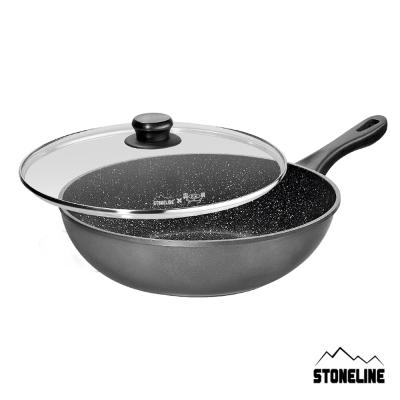 德國STONELINE 美食家系列原石炒鍋(含蓋)30cm