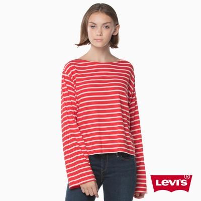 女款 長袖上衣 / 紅白條紋 / 亞洲新春限量系列 - Levis-動態show