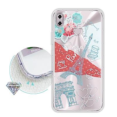 浪漫彩繪 ASUS ZenFone 5Z ZS620KL 水鑽空壓氣墊手機殼(巴...