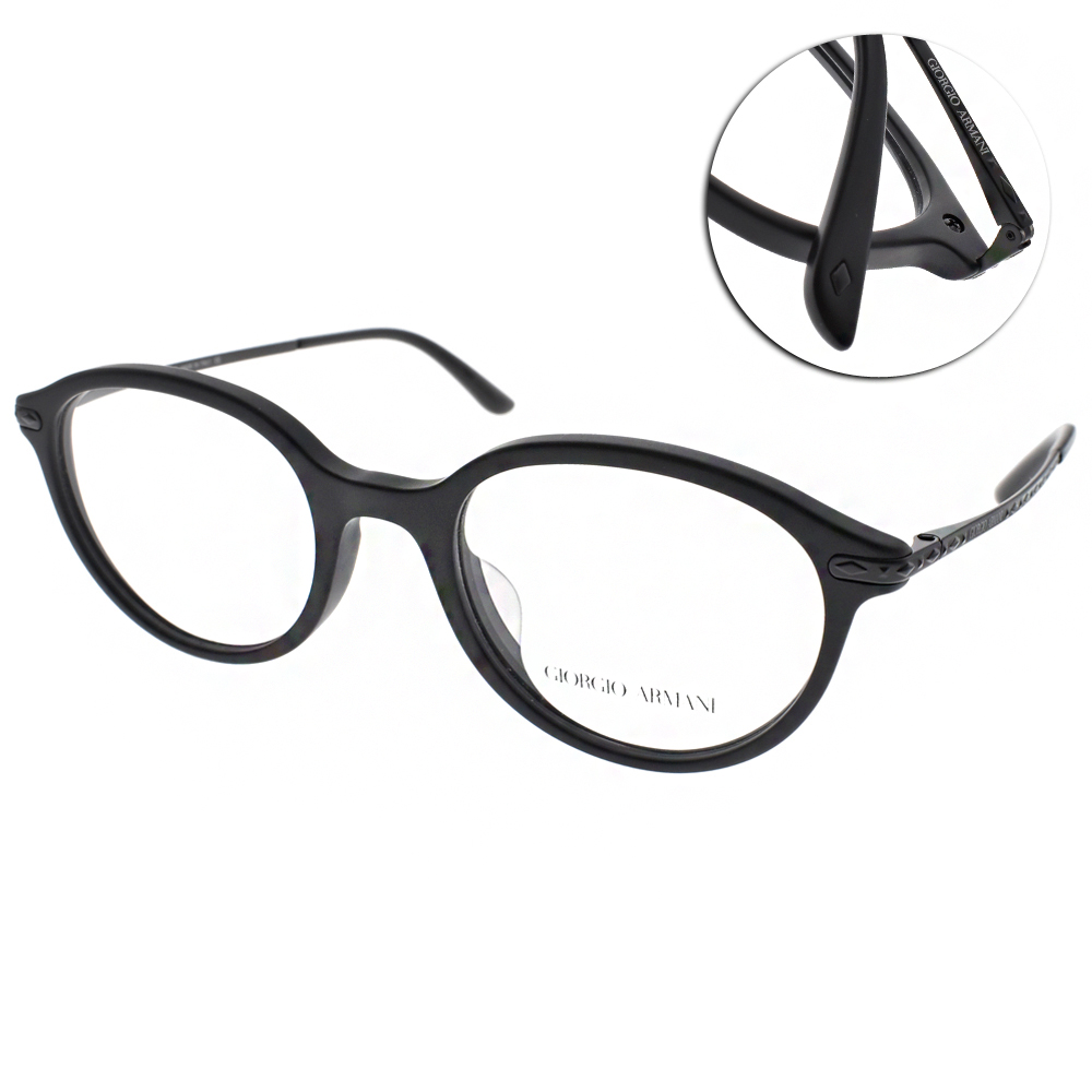 GIORGIO ARMANI眼鏡 時尚簡約/霧黑#GA7110F 5042