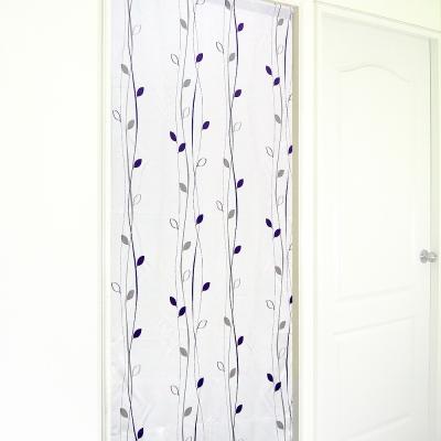 布安於室-藤蔓小葉遮光風水簾-灰紫