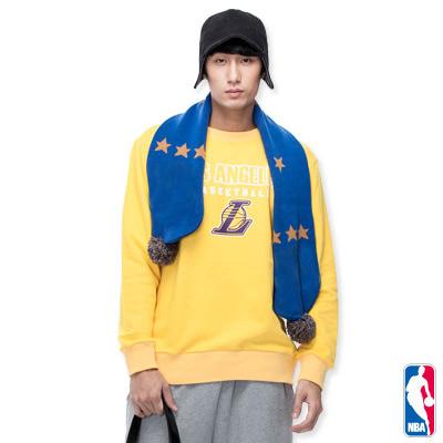 NBA-洛杉磯湖人隊保暖厚T恤-黃(男)