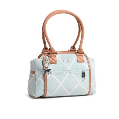 Kipling-手提包-茉莉黃鍊條格紋
