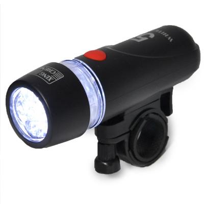 【自行車前燈5LED高級款】當車燈也可當手電筒