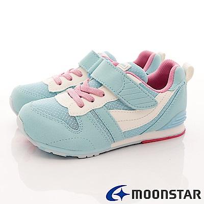 日本月星頂級童鞋 HI系列抗菌款 2121S25 水藍 (中小童段)
