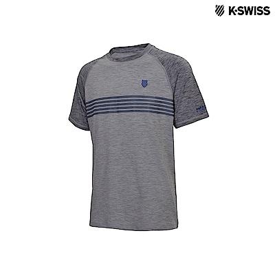 K-Swiss Raglan Poly Tech Tee運動排汗T恤-男-灰