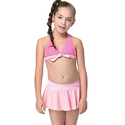 聖手牌兒童泳裝粉色兩件式比基尼女童泳裝