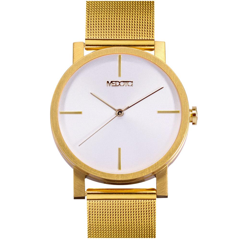 MEDOTA 極簡輕薄手錶- 低調系列 – 男錶 金色/40mm