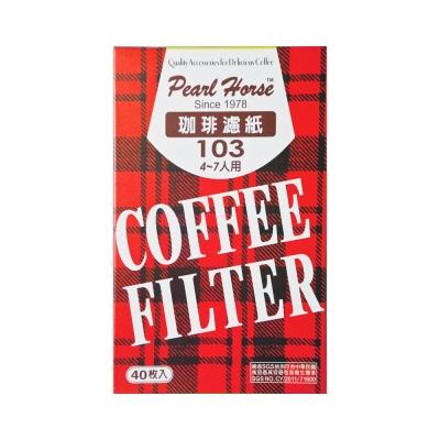寶馬牌咖啡濾紙4-7人份 1盒40枚入(1盒)