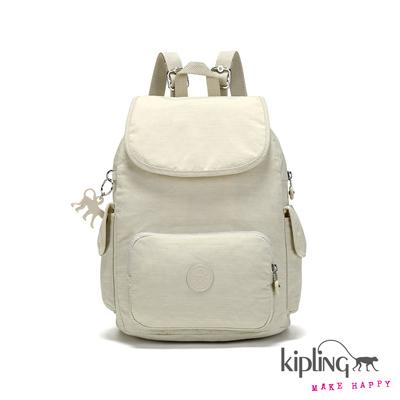 Kipling-後背包-氣質糖霜白