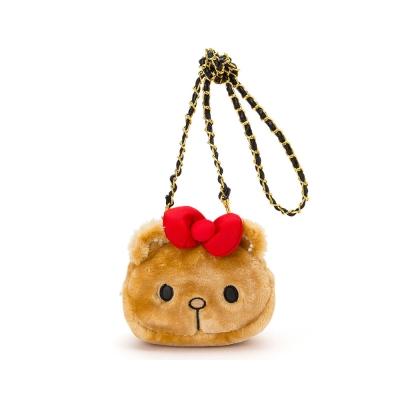 Sanrio HELLO KITTY紅唇小熊系列小熊大頭造型斜背包