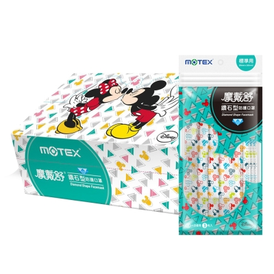 MOTEX摩戴舒 迪士尼口罩 米奇幾何款 30片 (盒裝)