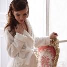 羅絲美睡衣 - 暖暖俏佳人溫暖洋裝睡袍 (清澈白)