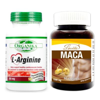 Organika優格康 男性巔峰組:左旋精胺酸(90顆)+高單位瑪卡(60顆)