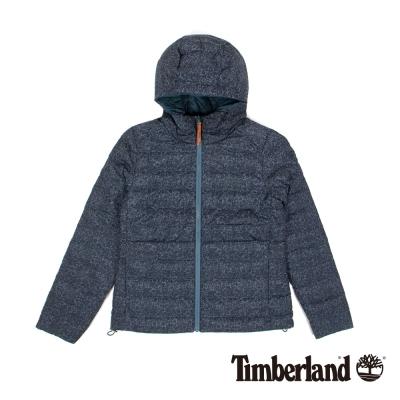Timberland 女款星空藍印花Mt Kelsey 輕量Hd羽絨夾克