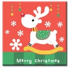 LOVIN 超萌韓版數字油畫 聖誕米鹿 1幅 20x20cm
