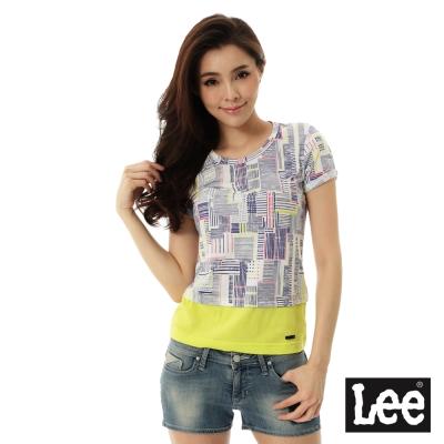 Lee 圓領短袖T恤-女-黃