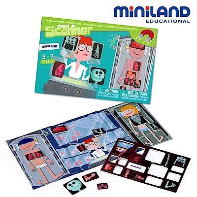 【西班牙Miniland】身體X光磁鐵遊戲板