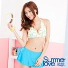夏之戀SUMMERLOVE   熱帶花比基尼三件式泳裝