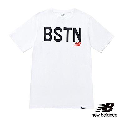 New Balance 印花短袖T恤 MT71535WT 男性 白色