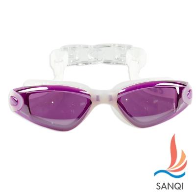 SANQI三奇 夏日必備抗UV防霧休閒泳鏡(9018-粉F)
