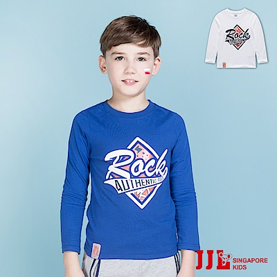 JJLKIDS 搖滾男孩純棉休閒長袖T恤(2色)