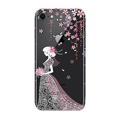 【SSTAR】iPhone 7/8 彩繪水鑽空壓防摔殼-櫻花新娘