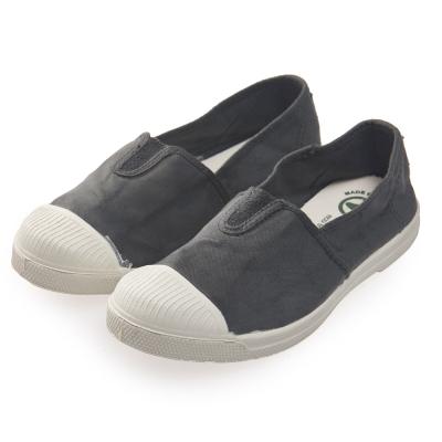 (女)Natural World 西班牙休閒鞋 素色鬆緊基本款*深灰色